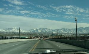 My normal view of the Wasatch mountains on the way home from swimming
