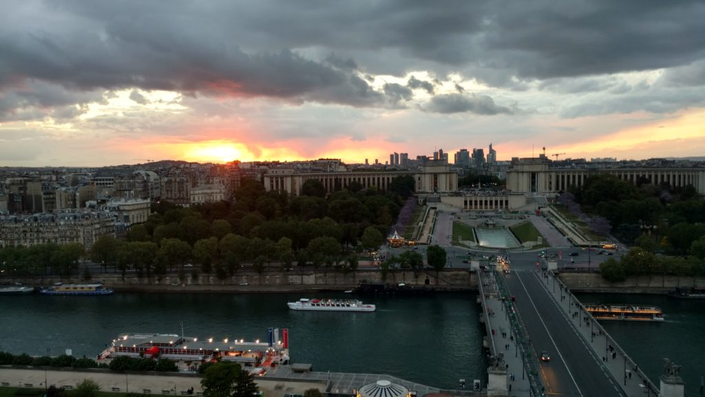 Sunset from the Eiffel Tower