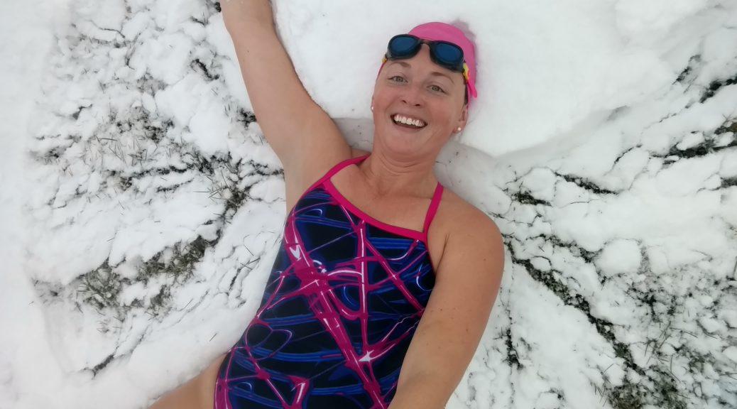 swimming snow angels